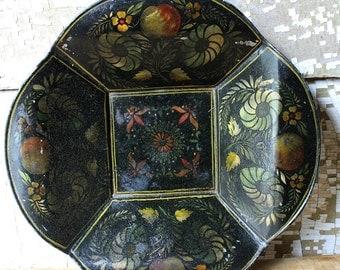 Antique Vintage Tin Stenciled Tray-Bread Tray