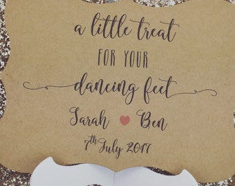 Wedding sign for Flip Flops, custom and Personalised