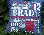 "Tom Brady 16"" x 16"" Pillows"