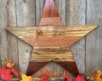 Rustic Reclaimed Wood Star