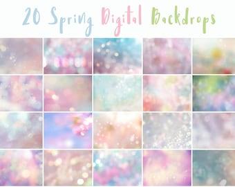 20 Spring Digital Backdrops, backrop overlays, spring overlays, digital backdrop