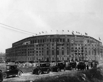 Vintage photo Yankee Stadium New York Yankees Antique photograph old baseball stadium vintage yankees NY Yankees 1920s print poster