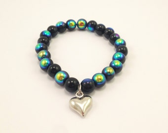 Galaxy Heart Charm bracelet