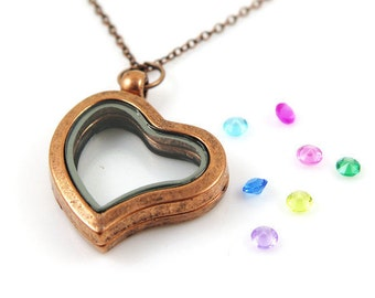 Bronze Memory Heart locket