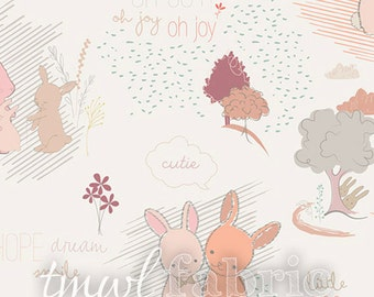 Woven Fabric - Littlest Furry Tales Sweet - Fat Quarter Yard +