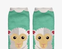Funny Socks CUTE SHEEP All Over Print Fullprint High Quality