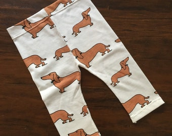 Doxie Leggings, Wiener dogs, baby leggings, toddler leggings