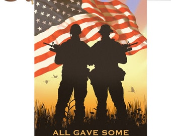 Some Gave All Flag,Solider All Gave Some Garden Flag,Holiday Garden Flah,Personalized Any Picture Garden Flag Outdoor Yard Decor