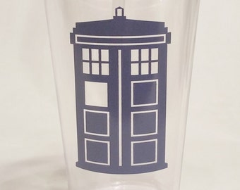 Doctor Who Tardis Tumbler with Straw