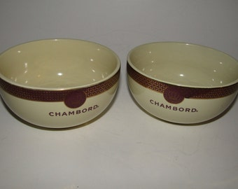 Chambord Black Raspberry Liqueur Ice Cream Bowls Set of 2