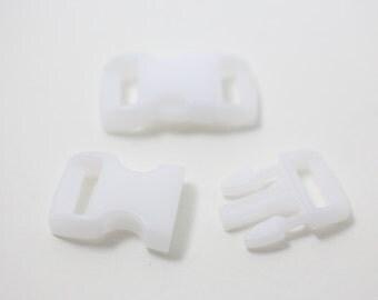 B0008/White/Bracelet Making Clip/15x28mm/5pairs