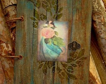 """Handmade notebook ''Secret Garden"""",2-ring binder notebook,A5 notebook, Gift for her"""