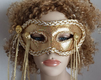 Gold and speckled mask