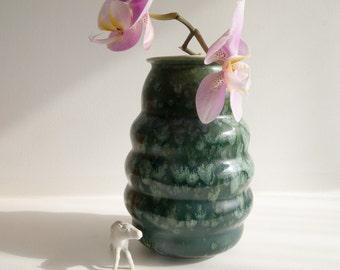 Unusual retro vase made in Devon