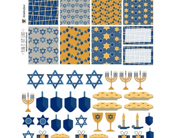 Hanukkah Sticker Kit (Erin Condren stickers)