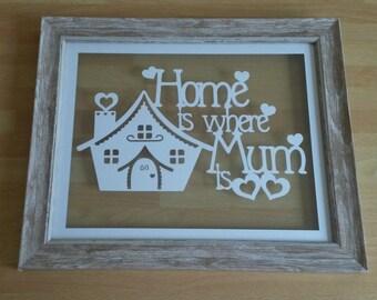 Mom Gift, Mum papercut, mum Gift, Mum frame, mum Christmas gift, mum picture, mum birthday gift, mum print, best mum, special mum, mum decor