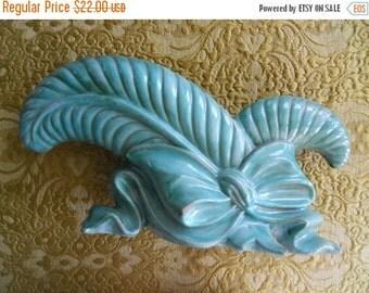 Vintage Stangl Vase,Art Deco Pottery,Terra Rose Double Leaf Console Vase,Marked Stangl USA 3734, signed FHP,Possible Fulper Haeger Pottery