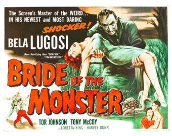 Bride of the Monster (1955) Movie Poster Bela Lugosi