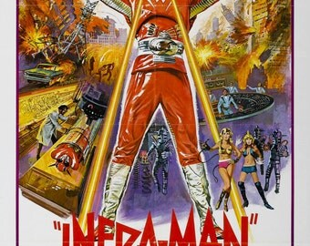 The Super Inframan Movie POSTER (1975) Sci-Fi/Action