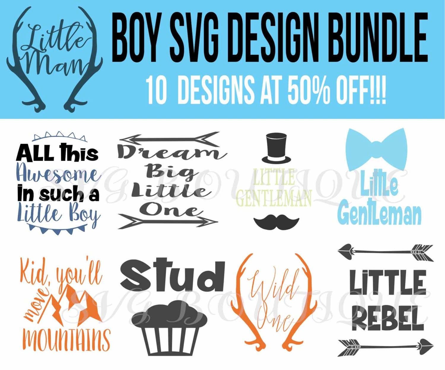Baby Boy Bundle SVG File, Baby Boy Quotes, Quote Overlay ...