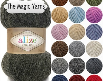 ALIZE ALPACA royal,alpaca,wool,knitting yarn,crochet yarn,turkish wool,shawl warp,DK, medium, 8ply, 13wpy