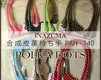 "INAZUMA Polka Dot Leather-like Handles | PAH-140 | 40cm/16"""
