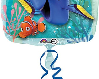 Finding Dory Square Balloon, Finding Dory Balloon, Balloons, Finding Dory Theme, Finding Dory Decoration, Finding Dory Party, Finding Dory