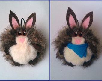 Rabbit Festive Decoration (Furr-Balls)