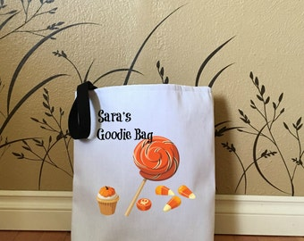 Personalized Trick or Treat Bag, Halloween Bags for Kids, Halloween Decorations, Cute Halloween Bags