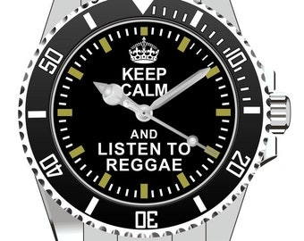 Keep Calm and listen to Reggae Watch -Men Watch Jewelry Bob Marley Gift Present for Men- Watch 2045