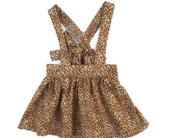 Cheetah Suspender Skirt