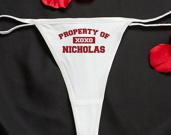 Property Of... Personalized Thong Undewear