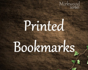 Print My Bookmarks!  |  Set of 4 Printed Bookmarks on Cardstock |  Shipping Included