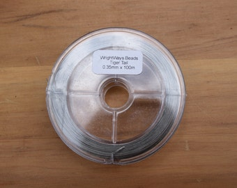Tiger Tail 0.35mm x 100m Beading Wire