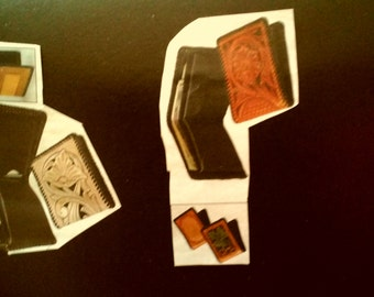 Personalized  Hand Tooled Leather Billfolds and etc.