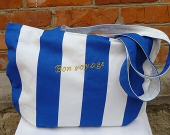 Beach bag, Bag for the beach,  Cotton bag - 100%, Embroidered bag, Bag with embroidery