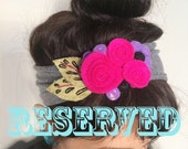 RESERVED FOR REBECCA Y. Felt Floral Headband