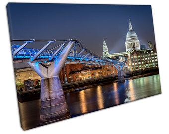 St Paul's Cathedral In LONDON At Night Canvas WALL ART C2361