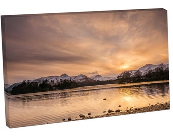 FO2396 Print On Canvas LAKE DISTRICT National Park Catbells above Derwent Water