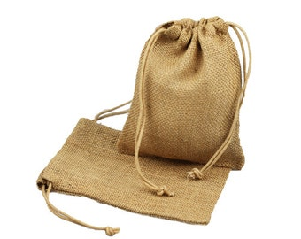Natural Gift Jute Drawstring Bag
