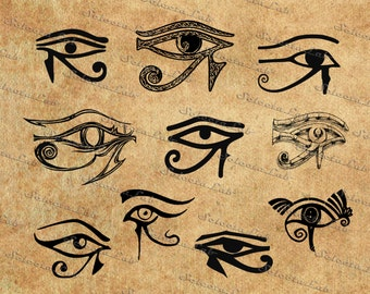 Digital SVG PNG eye of horus, Wadjet, Whole One, all seeing eye, ancient egypt, religion, clipart, vector, silhouette,  instant download