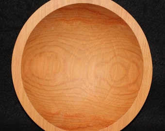 "9"" Hardwood Beech Bowl,Hardwood Bowl,Traditional Wood Bowl,Beech Bowl,Wooden Salad Bowl,Wood Salad Bowl,Food Safe Wood Bowl,Wood Beech Bowl"