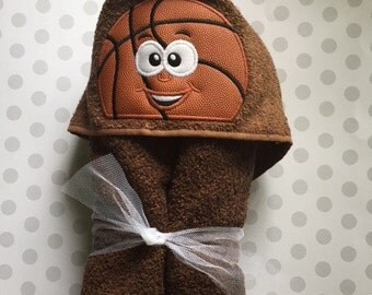 Basketball Hooded Towel