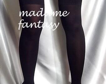 Black thin spandex stockings