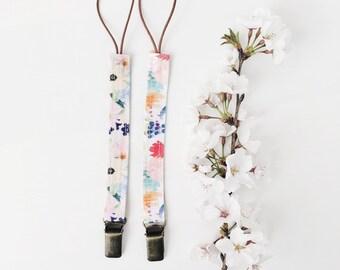 "Boho Pacifier Clip Duo ""Flora"""