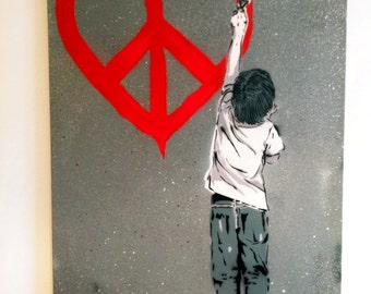 Love CND Boy - On Canvas 150cm x 100cm
