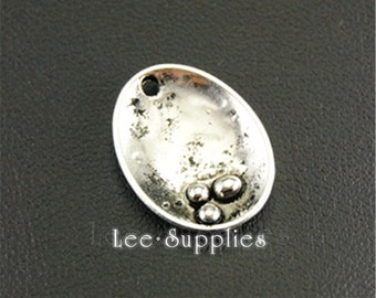 30pcs Antique Silver Oyster with pearl Charms A1317