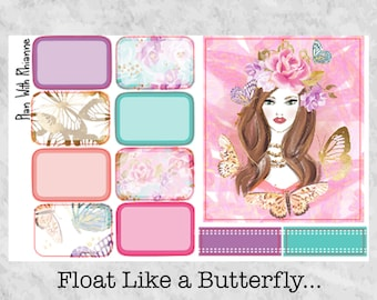 Float Like a Butterfly... Half Boxes for the Erin Condren Life Planner