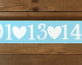 Anniversary Date Sign