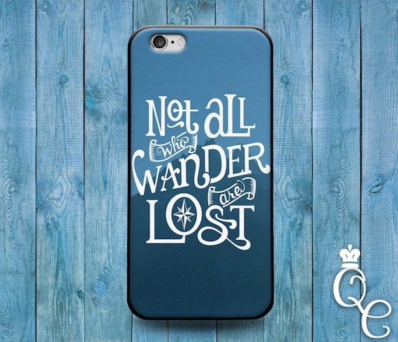 iPhone 4 4s 5 5s 5c SE 6 6s 7 plus iPod Touch 4th 5th 6th Generation Cute Not All Who Wander Are Lost Blue Mountain Phone Cover Quote Case